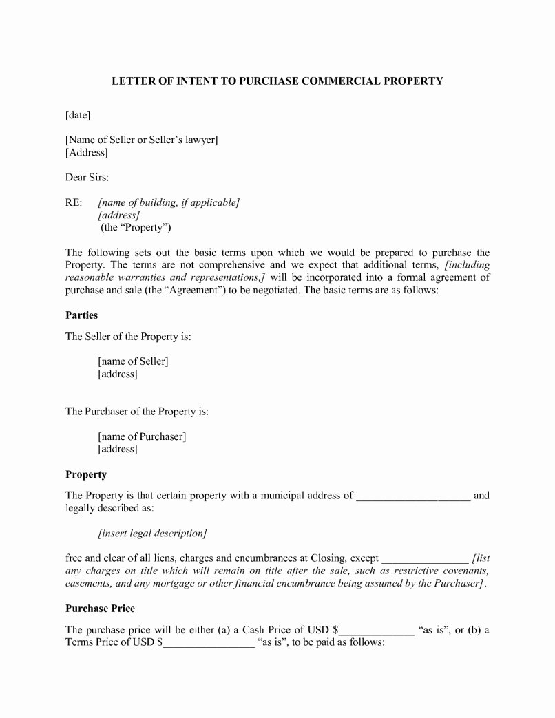 Letter Of Intent to Lease Template Lovely Mercial Lease Letter Intent Template Sample
