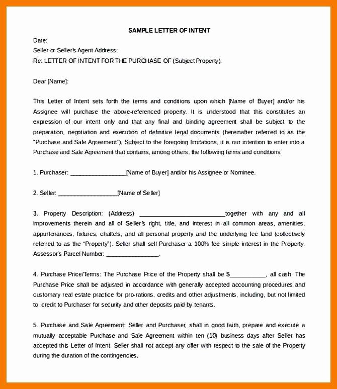 Letter Of Intent to Lease Template Luxury 12 13 Sample Letter Of Interest In Property