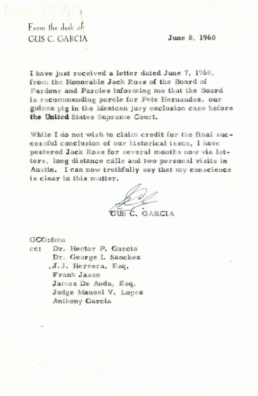 Letter to Garcia Pdf Fresh Gus Garcia Hernandez Vs Texas 50th Year Anniversary Of
