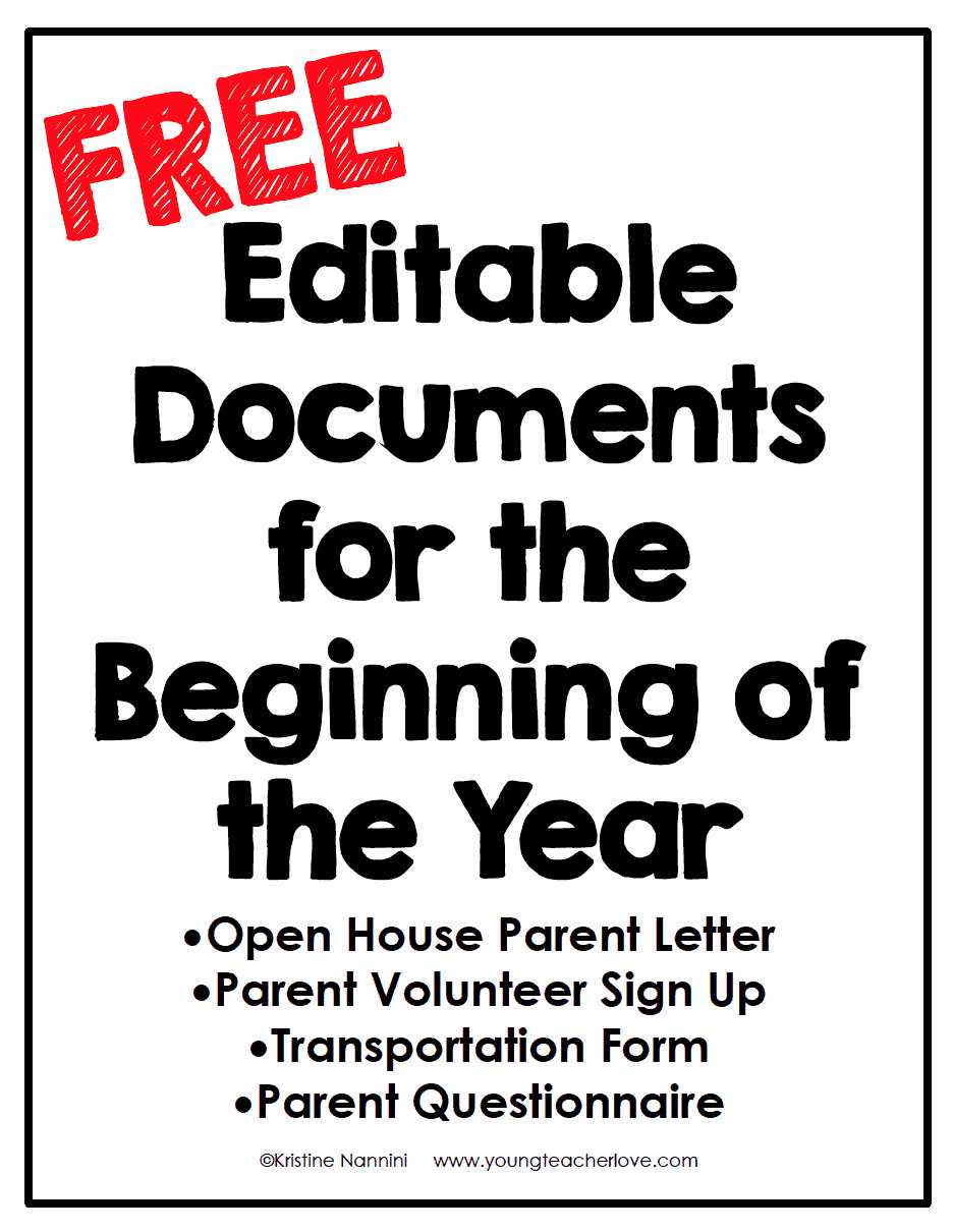Letters to Parents Template Elegant Open House and Meet the Teacher Night Freebies Young