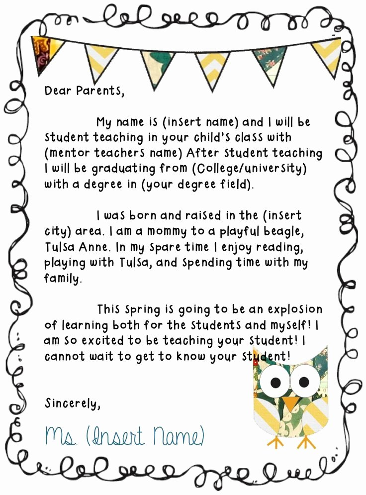 Letters to Parents Template Lovely 25 Best Ideas About Kindergarten Newsletter On Pinterest