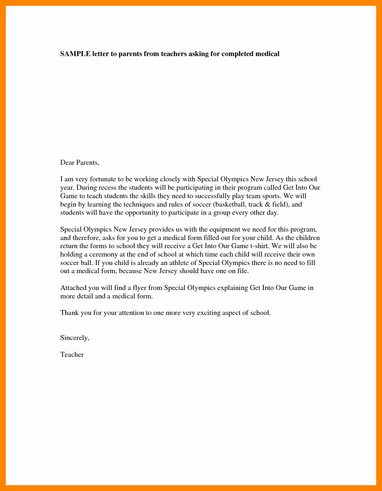 Letters to Parents Template Lovely 4 Teacher Introduction Letter to Parents Template