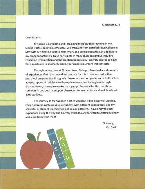 Letters to Parents Template Luxury Best 25 Teacher Introduction Letter Ideas On Pinterest