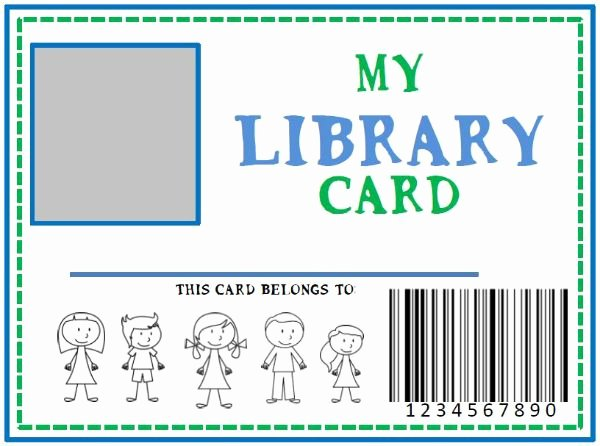 Library Checkout Card Template Best Of Family Library & Diy Pretend Library Card She Kristina