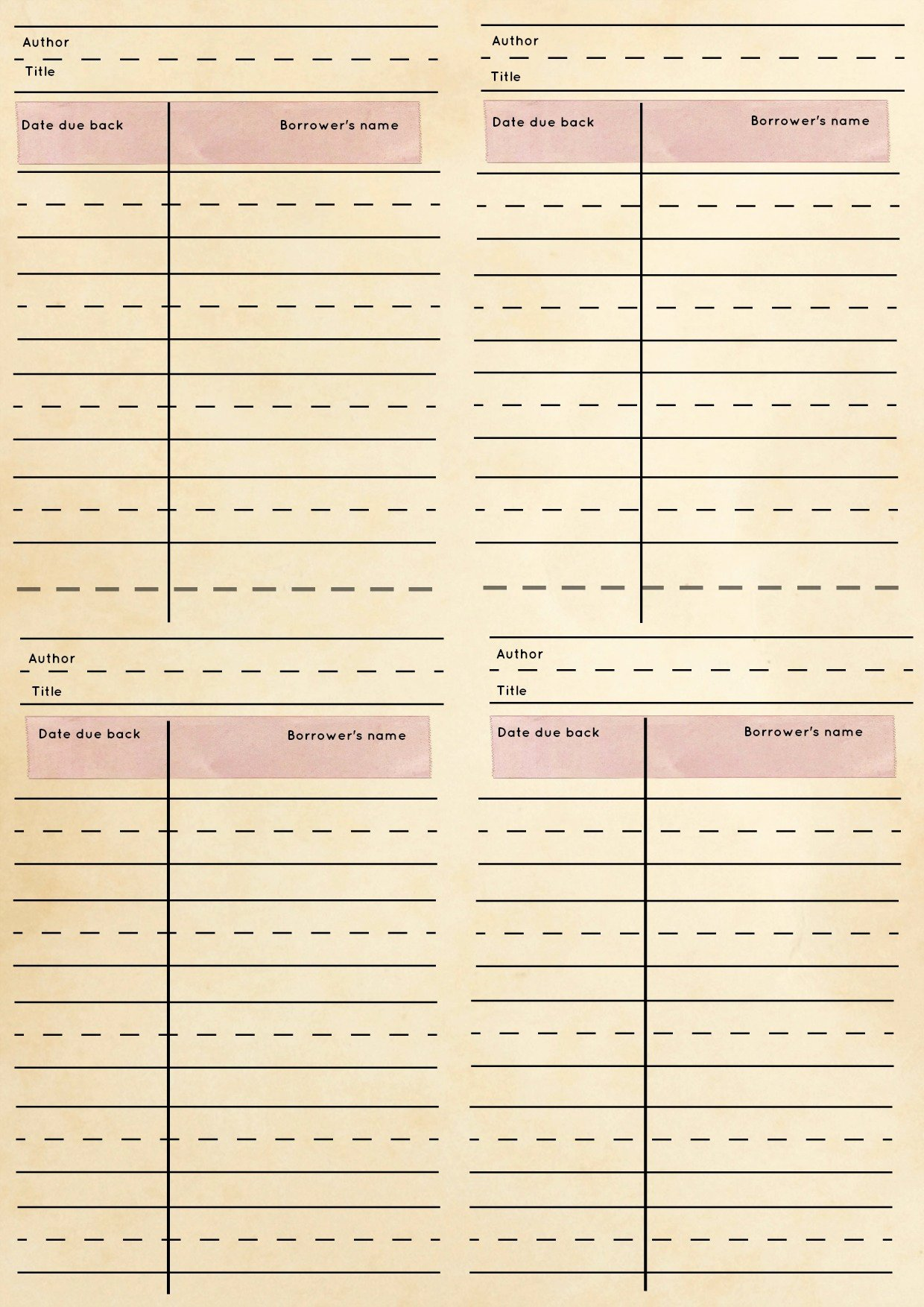 Library Checkout Card Template Inspirational Free Stuff Archives there and Back Again A Mother S