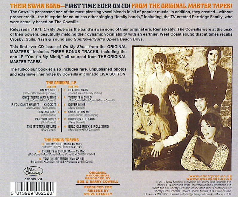Liner Notes Examples Lovely Cowsills Liner Notes My Side Cd