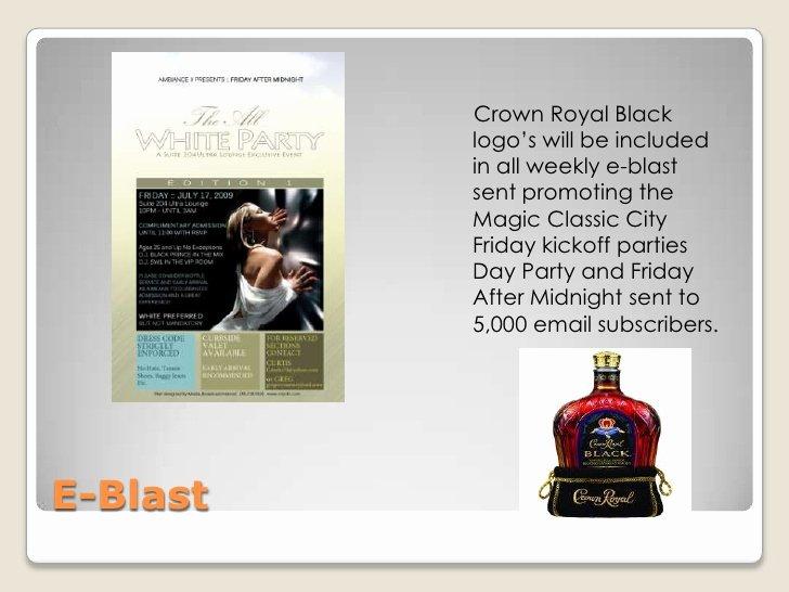 Liquor Sponsorship Proposal Fresh 2010 Sponsorship Proposal for Crown