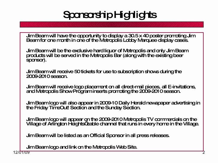 Liquor Sponsorship Proposal Fresh Liquor Sponsorship Proposal Template