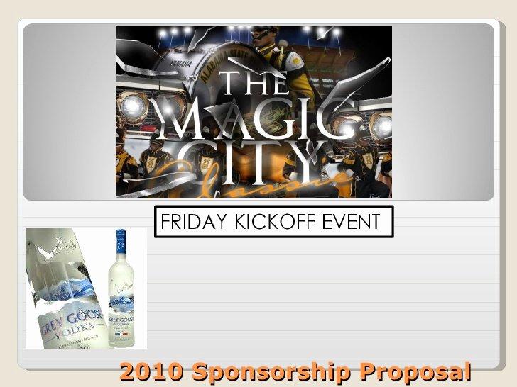 Liquor Sponsorship Proposal Inspirational 2010 Sponsorship Proposal for Goose