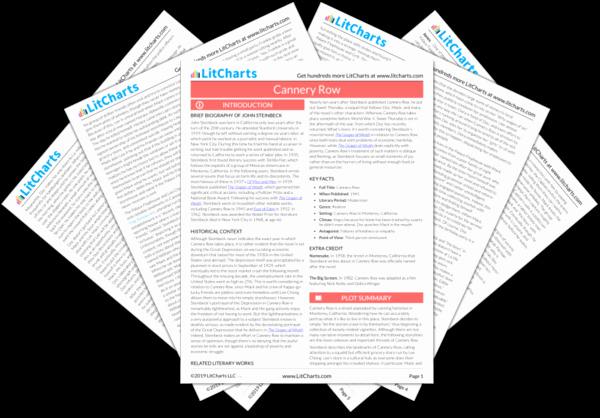 Litcharts Grapes Of Wrath Elegant Cannery Row Study Guide From Litcharts