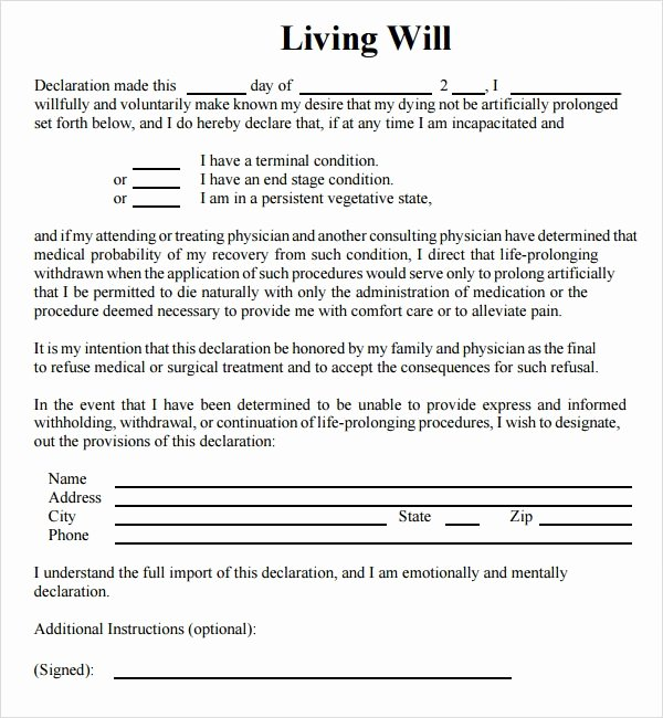 Living Agreement Template Awesome Living Will Template 8 Download Free Documents In Pdf