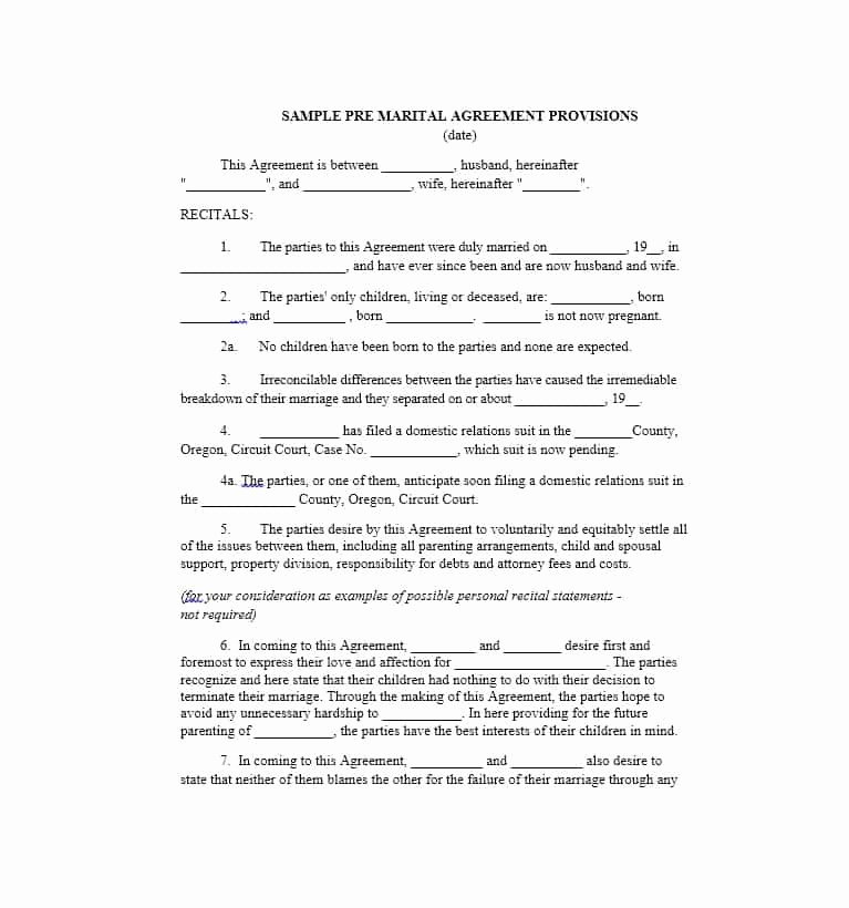 Living Agreement Template Lovely Cohabitation Agreement 30 Free Templates & forms
