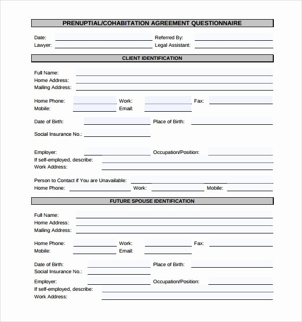Living Agreement Template Lovely Sample Cohabitation Agreement 6 Free Documents Download