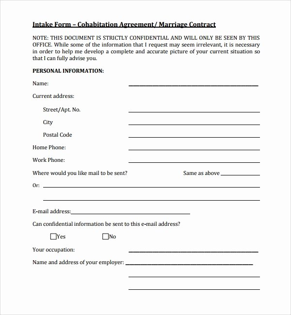 Living Agreement Template Luxury Cohabitation Agreement 7 Documents In Word Pdf