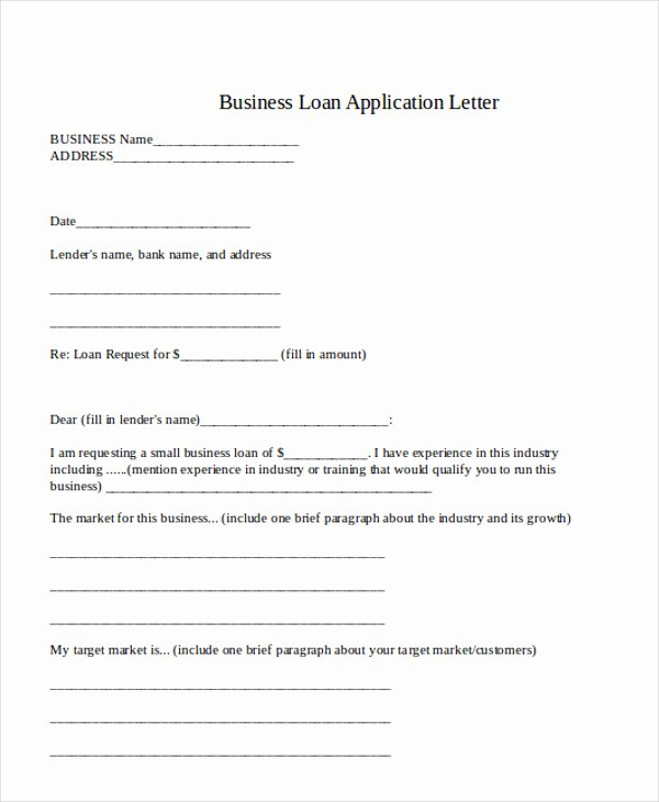Loan Application form Sample Luxury 36 Application Letter Samples