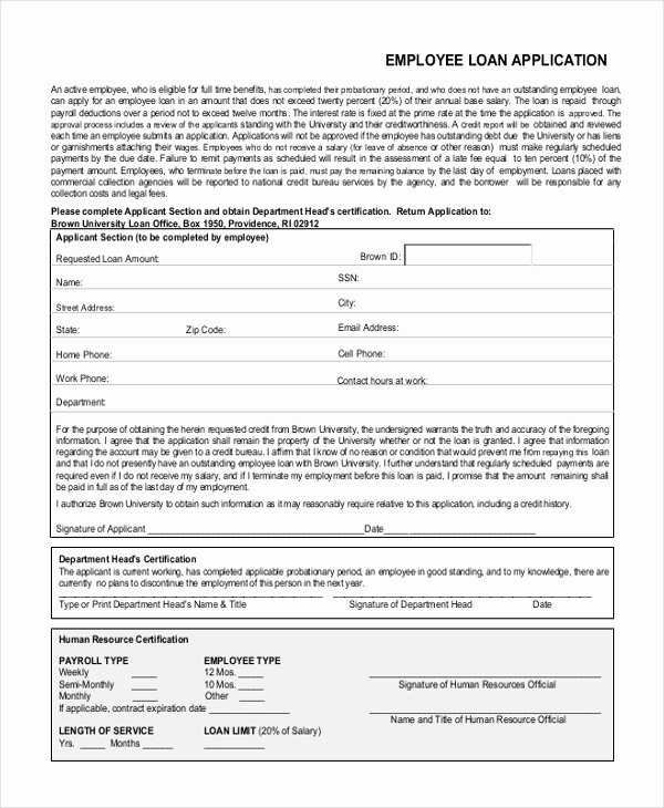 Loan Application form Sample New Sample Loan Application form 11 Free Documents In Word Pdf