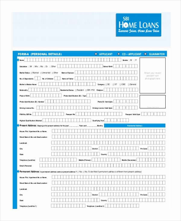 Loan Application form Sample Unique Sample Loan Application form 11 Free Documents In Word Pdf
