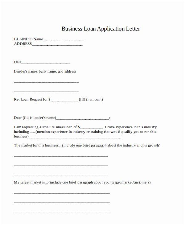 Loan Application Templates Lovely 36 Application Letter Samples
