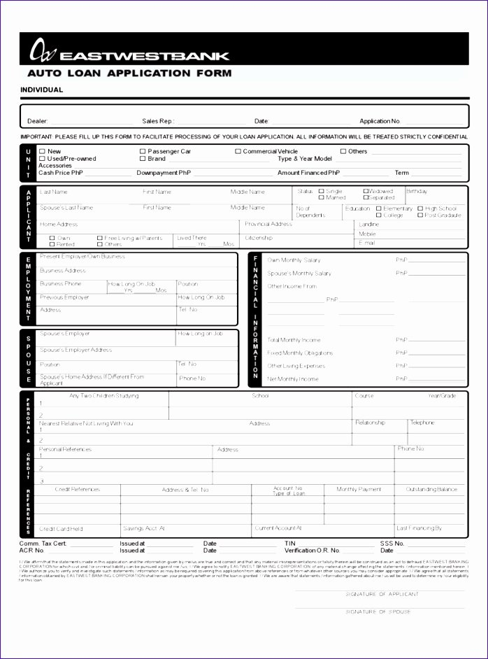 Loan Application Templates Luxury 14 Excel Loan Calculator Template Exceltemplates