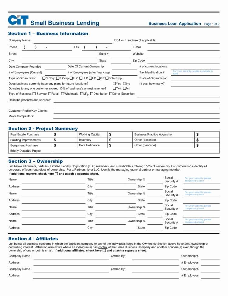 Loan Application Templates New Us Bank Business Loan Application Business Registratio Us