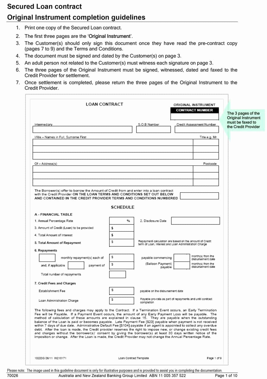 Loan form Template Best Of 40 Free Loan Agreement Templates [word & Pdf] Template Lab