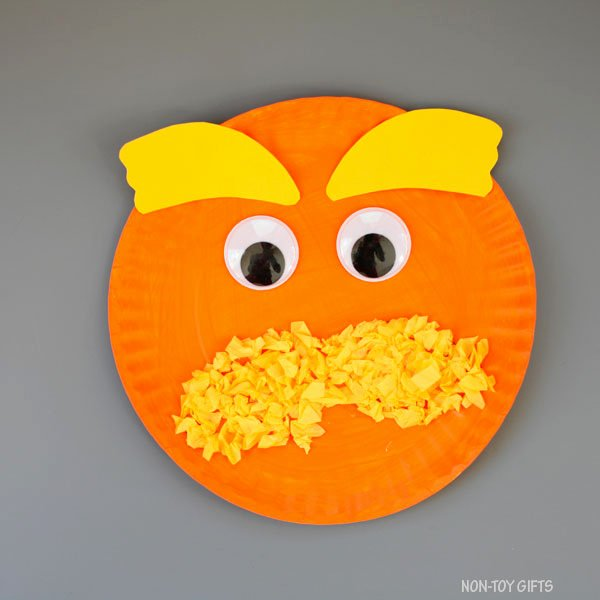 Lorax Eyebrow Template Lovely Paper Plate Lorax Craft for Kids Dr Seuss Day Craft