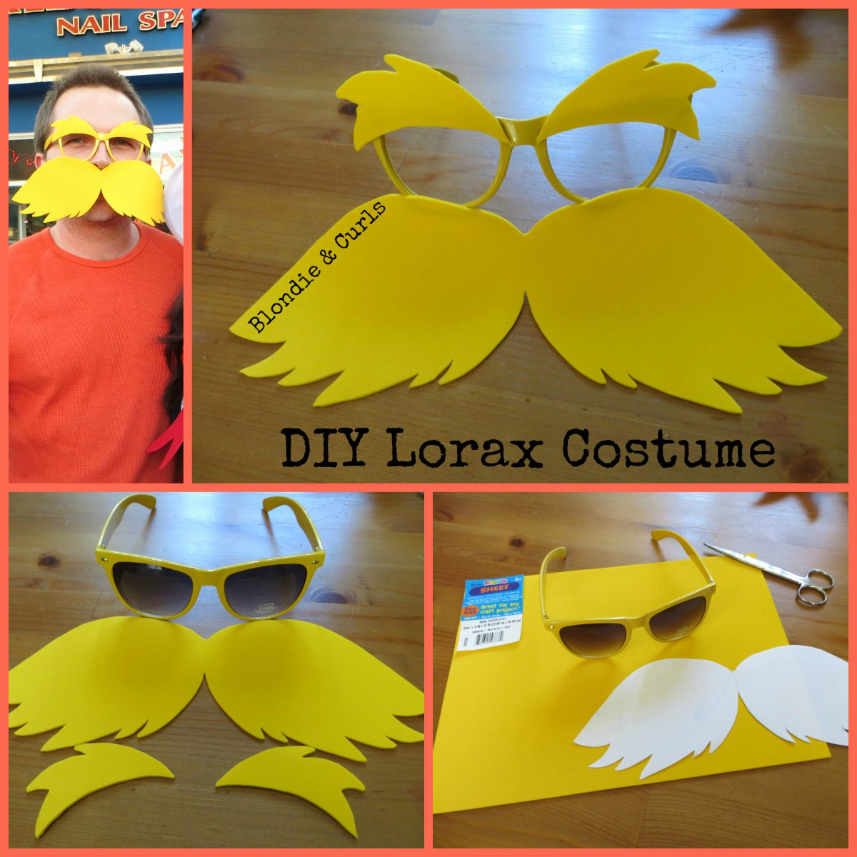 Lorax Mustache and Eyebrows Template Best Of Diy Lorax Costume