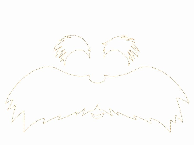 Lorax Mustache and Eyebrows Template Elegant Best Ideas About Free Fonts Printables Clipart Lorax