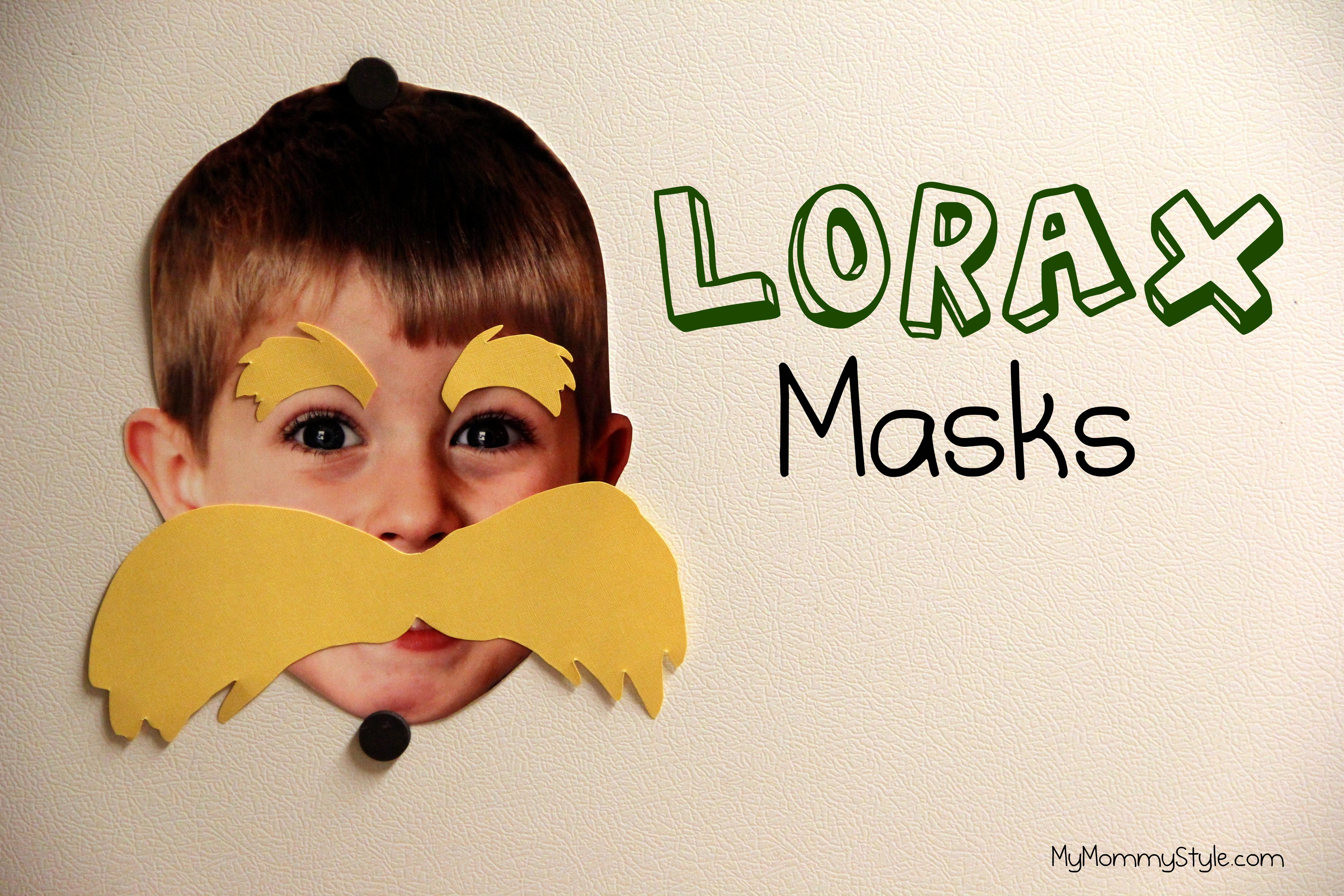 Lorax Mustache Printable Fresh Lorax Masks My Mommy Style