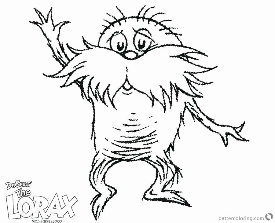 Lorax Mustache Printable Unique Dr Seuss Lorax Mustache Coloring Pages Free Printable