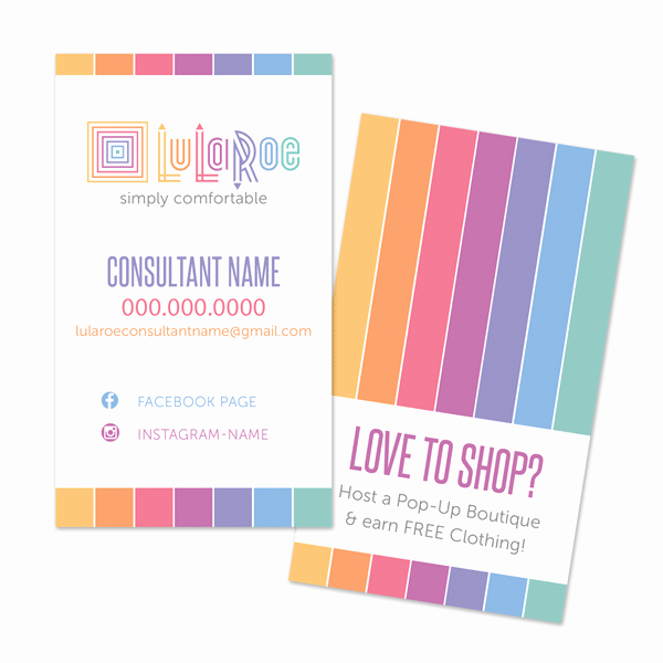 Lularoe Business Card Template Awesome Lularoe Business Cards Home Fice Approved Hashtag Bg