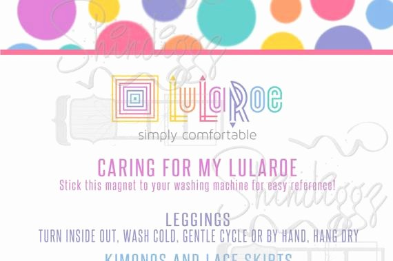 Lularoe Business Card Template Awesome Lularoe Care Cards Circles Polka Dots Digital Image by