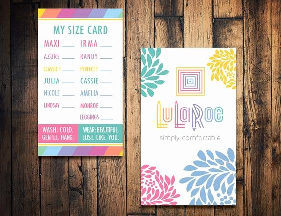 Lularoe Business Card Template Beautiful Lularoe Size Card Lularoe Clothing Size Card by