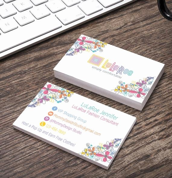 Lularoe Business Card Template Best Of Lularoe Business Card White Background by Mommydesignstudio