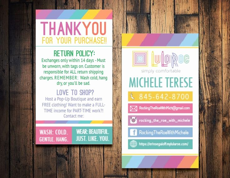 Lularoe Business Card Template Lovely 9 Best social Media Postcard Images On Pinterest
