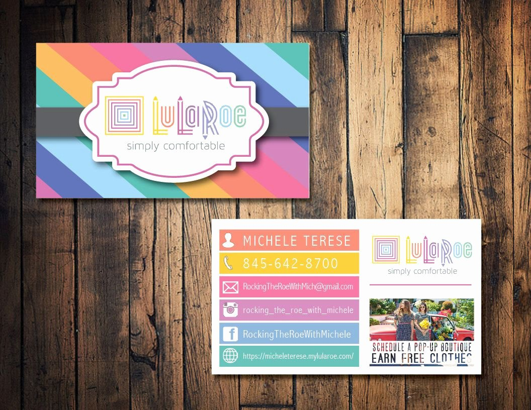 Lularoe Business Card Template Luxury Lularoe Business Card Lularoe Calling Card Lularoe