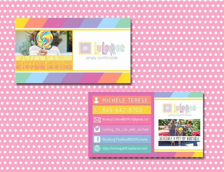 Lularoe Business Card Template New Lularoe Business Card Lularoe Calling Card Lularoe