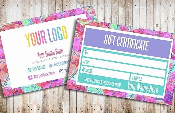 Lularoe Gift Certificate Template Best Of Lularoe Gift Certificate Template Free