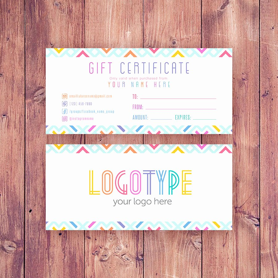 Lularoe Gift Certificate Template Lovely Colorful Lularoe Gift Certificate Cutergb Printable