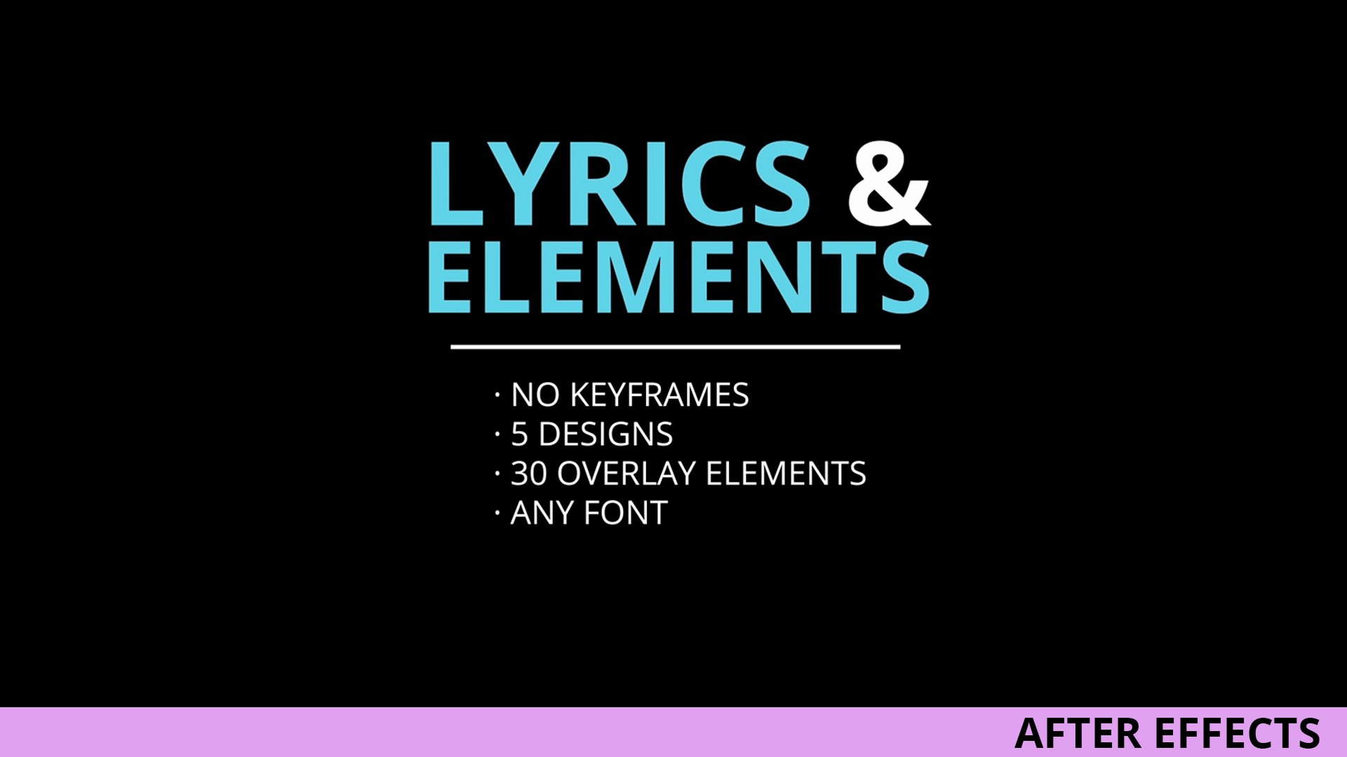 Lyric Video after Effects Elegant Lyrics and Elements after Effects Templates