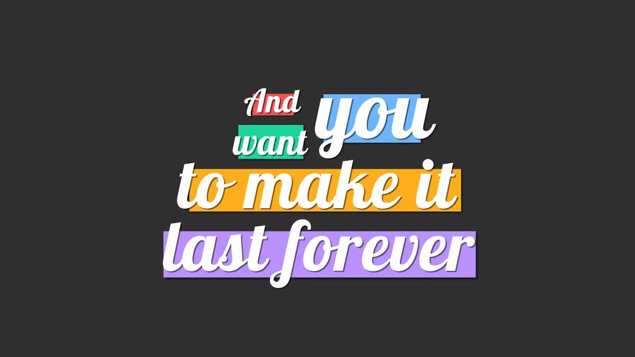 Lyric Video after Effects Fresh Lyrics Typography after Effects Template