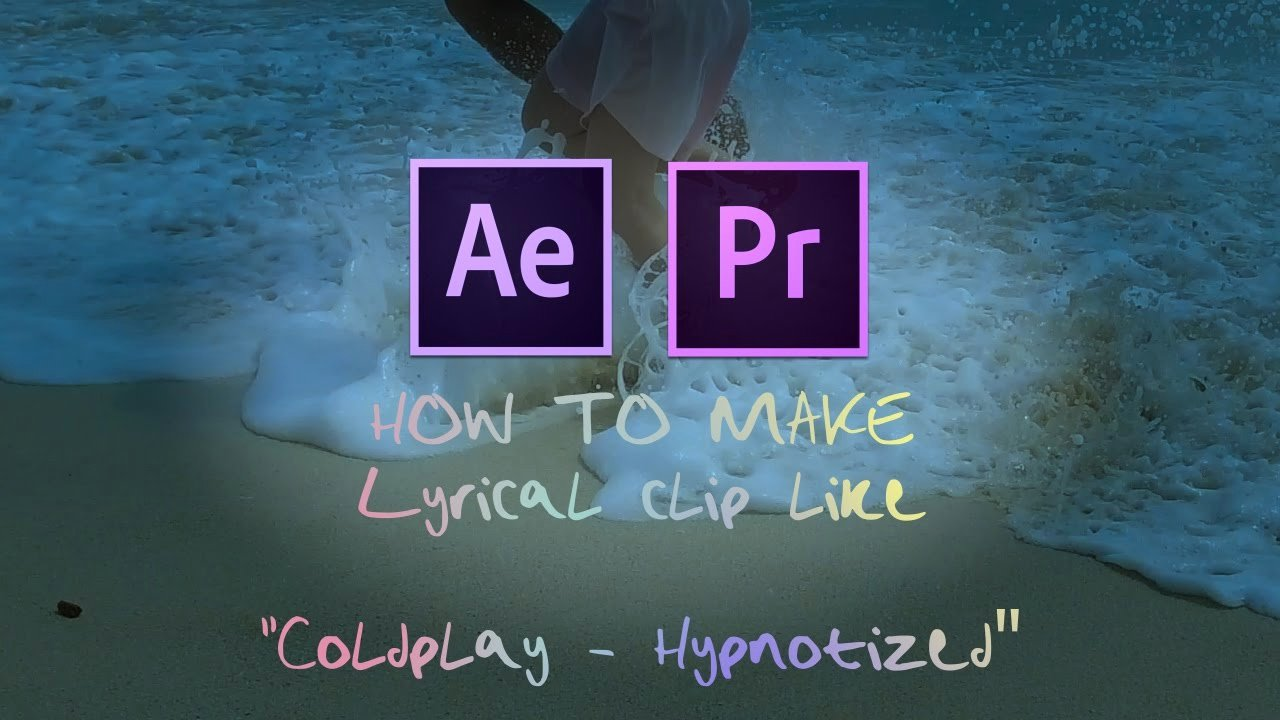 Lyric Video after Effects Luxury after Effects Tutorial