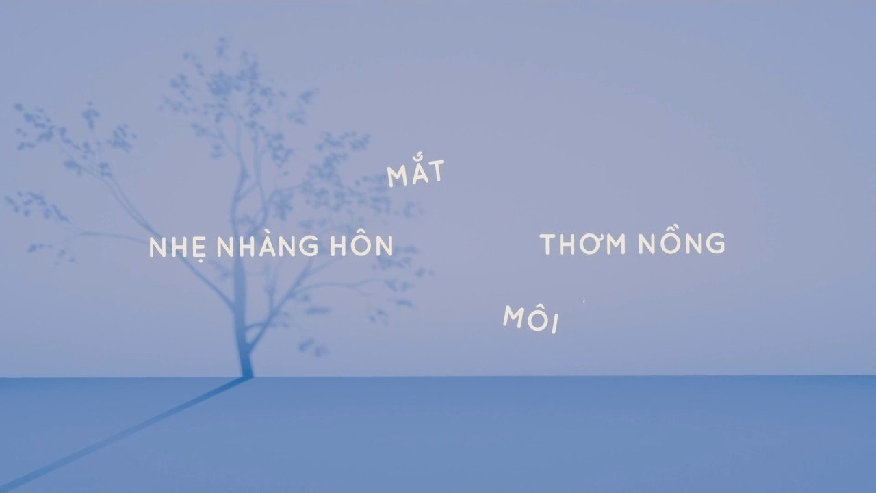 Lyric Video after Effects Luxury Min Gọi Tên Em Lyrics Video after Effect