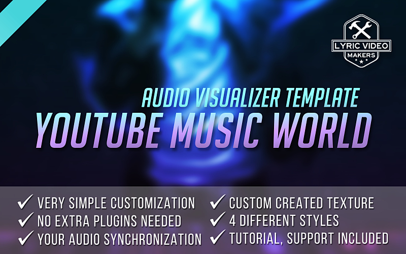 Lyric Video after Effects New Buy Music Visualizer Template for after Effects