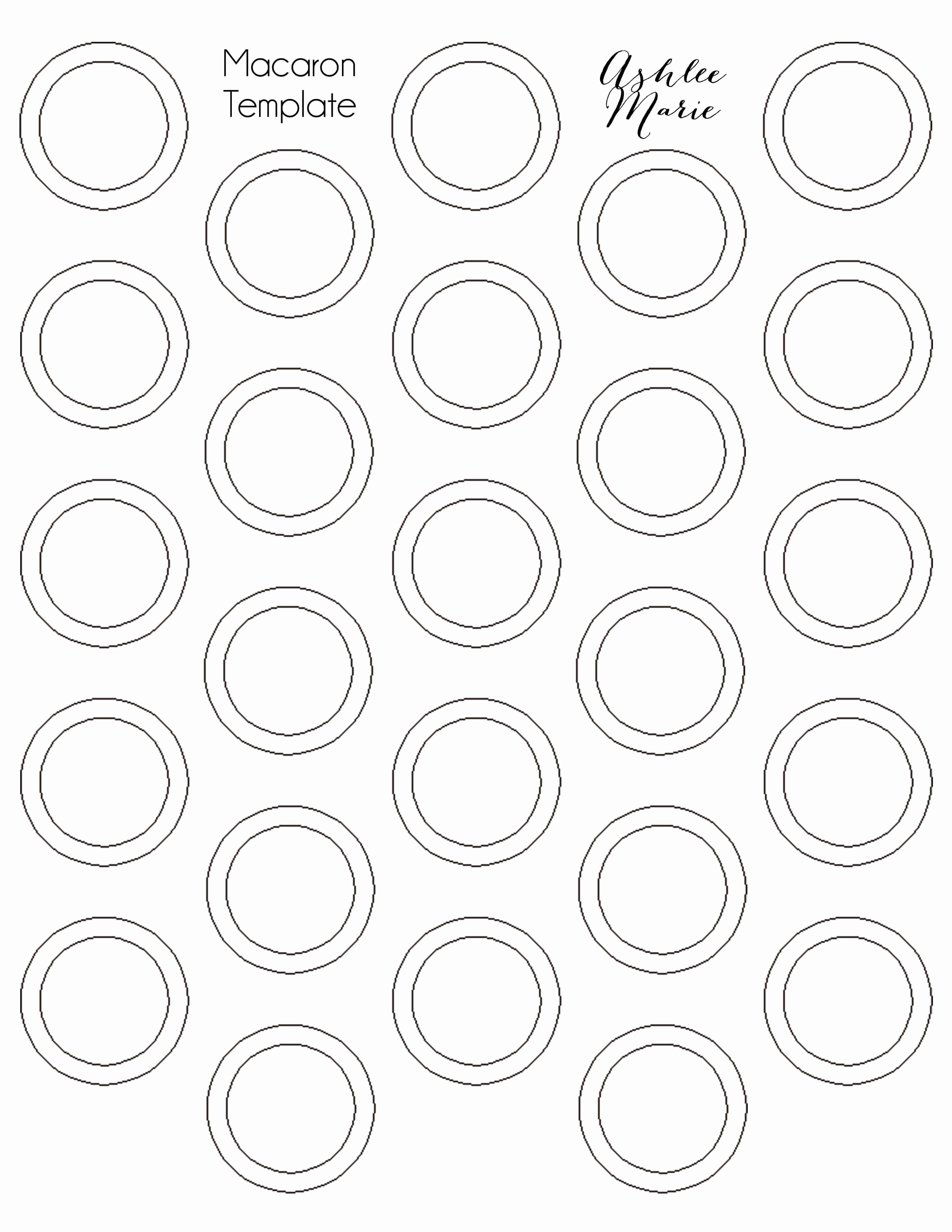 Macaron Printable Template Elegant Chocolate Mint Macarons