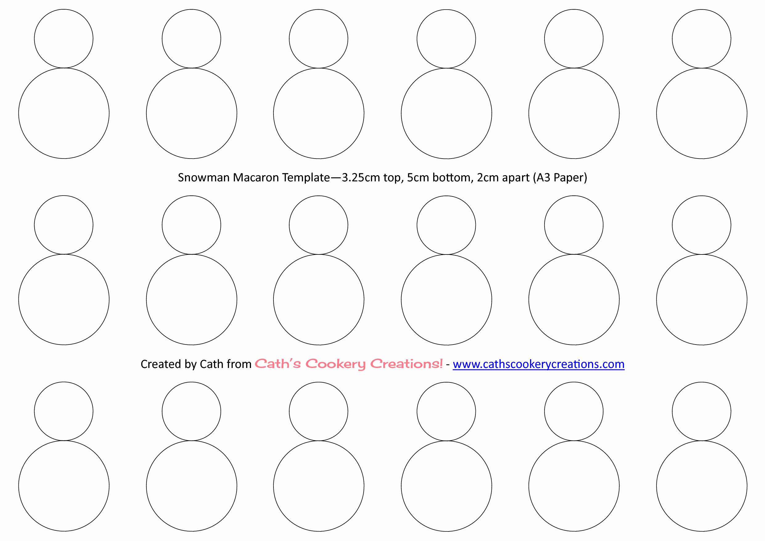 Macaron Printable Template Luxury Snowman Template Macarons Pinterest