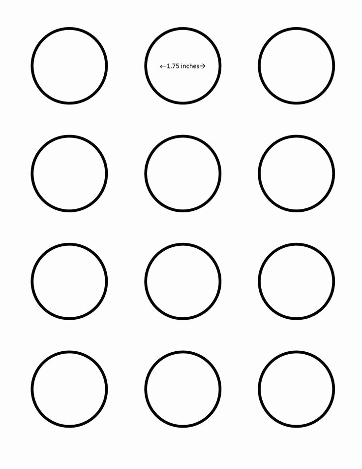 Macaron Template 2 Inch Fresh All Sizes