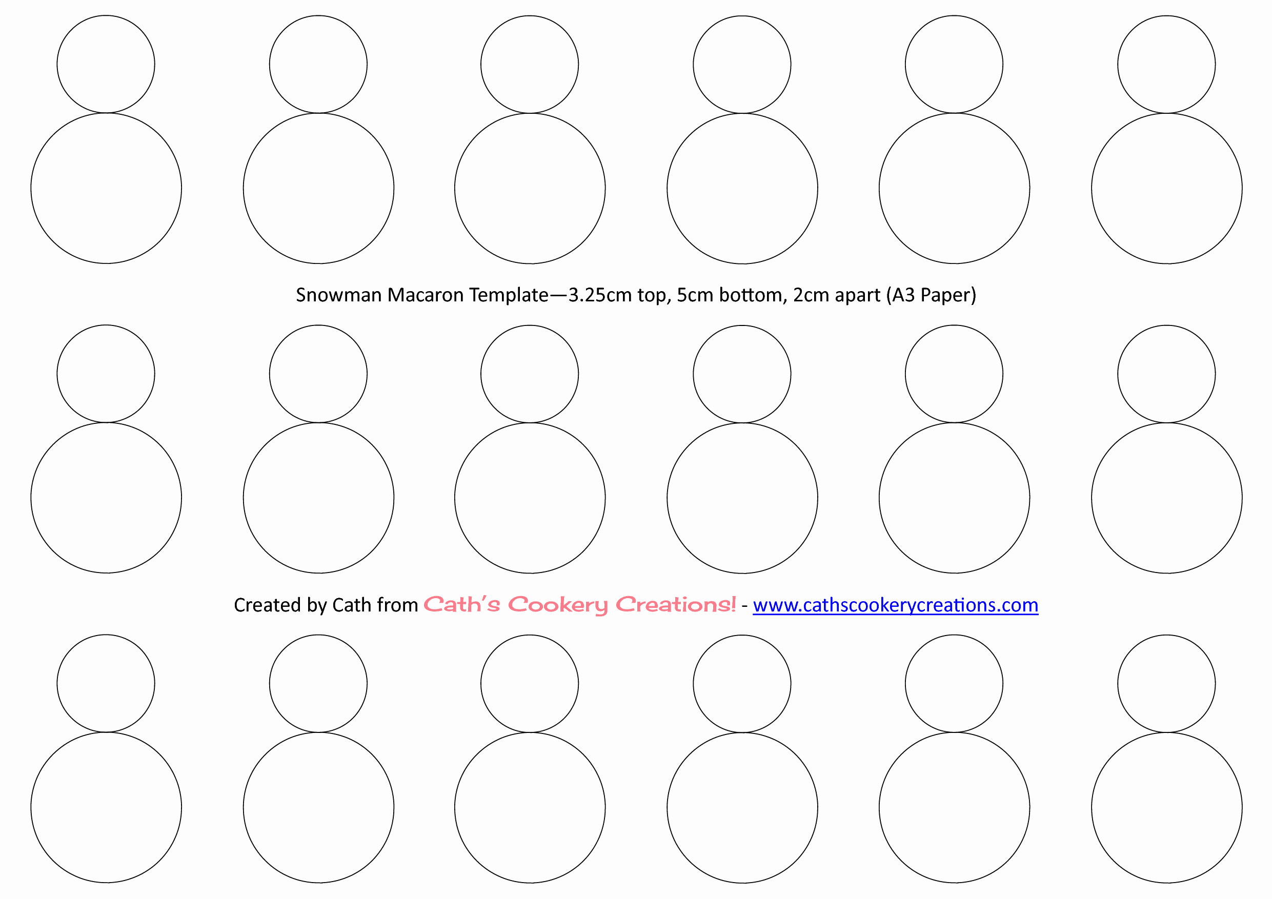 Macaron Template Pdf Lovely Snowman Template Macarons In 2019
