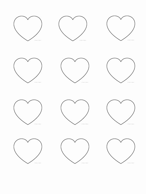 Macaron Template Printable Luxury Heart Shape Template 3 8cm Macarons Pinterest