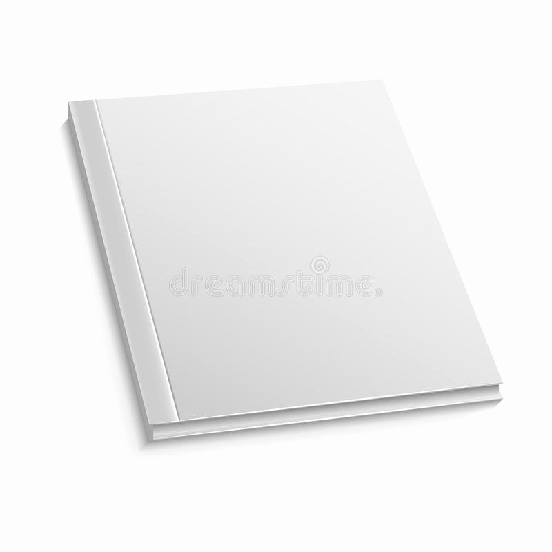 Magazine Cover Blank New Blank Magazine Cover Template White Background Vector